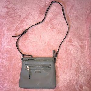 Dana Buchman grey leather purse